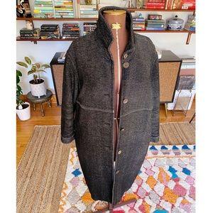 Acne Jeans Oversized Long Wool Coat - S/M